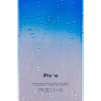 Dark Blue Clear Waterdrop Hard Case For iPhone 5 & 5S