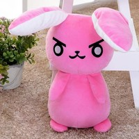 50cm Cute OW DVA Cosplay Watch Pink Rabbit Plush Stuffed Doll Toy Kawaii Cartoon Soft Plush Toys Children Gift