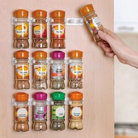Spice Rack Wall Storage Organizer 12 Cabinet Door Hooks 3PCS/SET