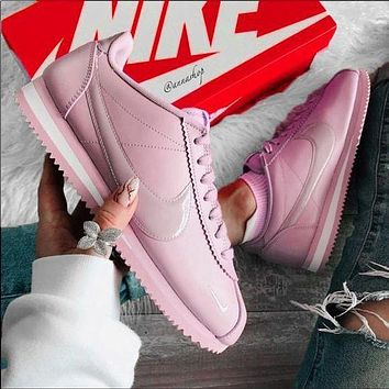 Nike Cortez Forrest Couple Retro Casual Sneakers Purple Pink