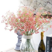 4 Colours 1PC Artificial Silicone Baby's Breath DIY Flower Gypsophila Fake Plant for Wedding Home Party Decoration 60cm