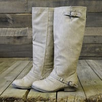 Montana Skye Beige Strap Riding Boots