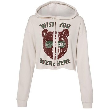 Wish You Were Here Heather Dust Cropped Hoodie