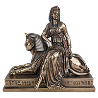 Park Avenue Collection Egyptian Queen Sitting On Sphinx