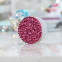 Genuine Fuchsia Crystals PopSockets PopGrip (POP207)