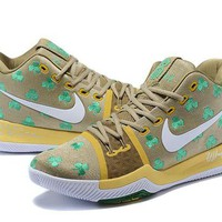 DCCK Nike Kyrie Irving 3 D.Gold Green Basketball Shoes