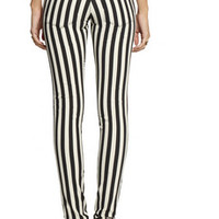 Joseph Erevan striped skinny jeans – 65% at THE OUTNET.COM