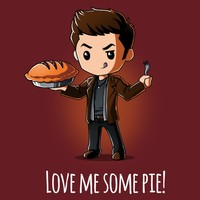 Dean Winchester Love Me Some Pie! T-Shirt   Official Supernatural Tee – TeeTurtle