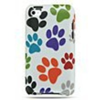 Colorful Dog Paws Protector Case for iPod touch (4th gen.)