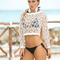 Crochet Crop Top Cover-Up