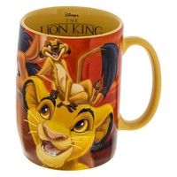 disney parks the lion king simba pumbaa and timon ceramic coffee mug new