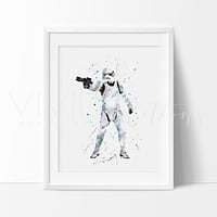 Storm Trooper Watercolor Art Print