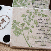 Ginkgo Leaf Nature Coasters Set of 4 by MyLittleChick on Etsy