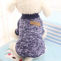 Pet Dog Clothes For Dogs Pets Costume for Small Dog Clothing Warm Cat Sweater Classical Colorful Pet Dog Sweater