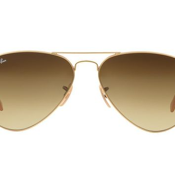 NEW SUNGLASSES RAY-BAN AVIATOR 55 SMALL RB3025 in Gold