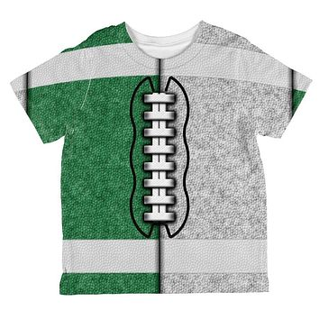 Fantasy Football Team Green and White All Over Toddler T Shirt