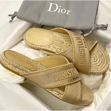 Dior's latest cross slippers