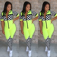 Race Star Jumpsuit Neon Yellow