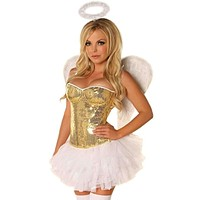 Daisy 4 PC Gold Sequin Angel Costume