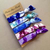 The Kelli Tie Dye Hair Ties Ponytail Holder Collection