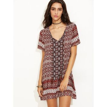 Boho Tassel Dress - Multi