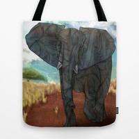 African Elephant Tote Bag by Ben Geiger