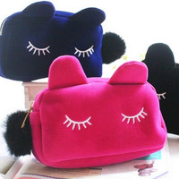 Fashion Cosmetic Makeup Bags Cartoon Storage Pencil Pouch Cases