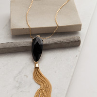 In the Long Run Necklace in Black + Gold – Dress Up