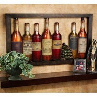 Design Toscano Vintage Wine Cellar Metal Wall Frieze - MH321 - All Wall Art - Wall Art & Coverings - Decor
