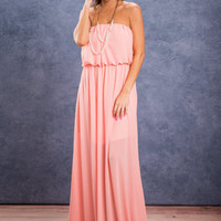 Everyday Glamour Maxi Dress, Pink