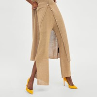 LOOSE KNIT TROUSERS