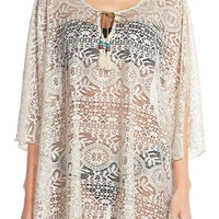 Lucky Brand Crochet Tunic Cover-Up | Nordstrom