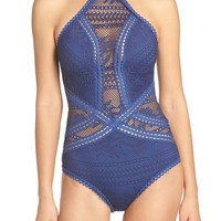 Becca 'Prairie Rose' Crochet One-Piece Swimsuit | Nordstrom