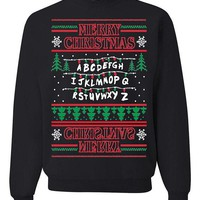 Stranger Things Upside Down Ugly Christmas Sweater Unisex Sweatshirt