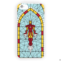 Iron Man Stained Glass Marvel Comics For iPhone 5 / 5S / 5C Case