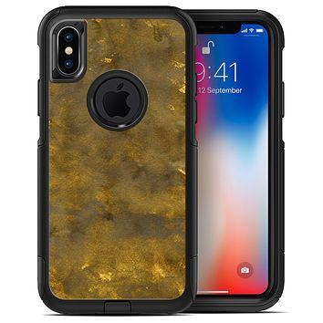 Grunge Watercolor with Golden Specks - iPhone X OtterBox Case & Skin Kits