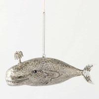 Anthropologie - Iced Whale Ornament
