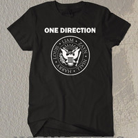 One Direction Circle Symbol Black and White T- Shirt  For Men Or Women Size TS12