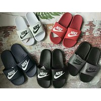 """""""Nike"""" Summer Fashion Letter Slippers Men Home Sandals Flats Shoes"""