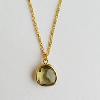 Boho Chic Necklace Teardrop Crystal Peridot Pendant,Delicate Gold Plated Chain,Sign Leo,Month March, Bridesmaid,Elegance, Exclusive