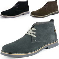 Alpine Swiss Beck Men's Suede Chukka Boots Lace Up Shoes Crepe Sole Desert Boot