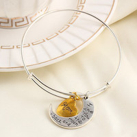 """""""I Love You To The Moon and Back"""" Adjustable Bangle Bracelet - Mom Daughter Grandma Sister Aunt"""