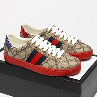 GG Ace Embroidered Low-Top Color Block Embroidered Casual Shoes (Top Quality)