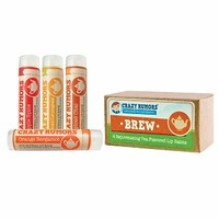 Crazy Rumors Spice Collection - Natural Lip Balm 4 Pack Gift Set, Brew