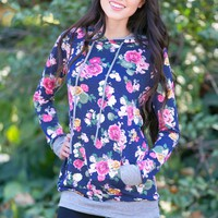 Floral Pullovers! 4 Styles!