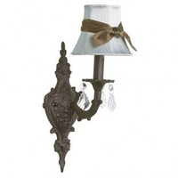 Jubilee Collection Wall Lighting  Wall Sconce with Plain Blue Shade in Mocha - 820008_2411_309 - Wall Lighting - Lighting