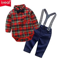 Baby Toddler Kids Boys Clothes Shirts Tops + Pants Outfits Infant born Bodysuit for Birthday Party Baby Boy Clothes