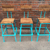 Bar Stools for Winebar, Bistro, Restaurant - Industrial Style Commercial Urban Living Bar Stools - The Nantucket