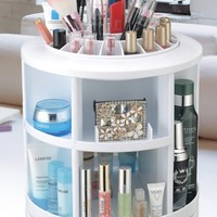 New 2015 Plastic White Round Rotation Cosmetic Organizer Drawer Makeup Storage Holder-in Storage Holders & Racks from Home & Garden on Aliexpress.com   Alibaba Group