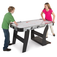 The Space Saving Air Hockey Table - Hammacher Schlemmer